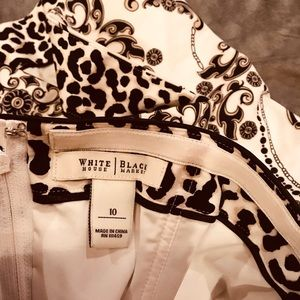 White House Black Market Tops - Beautiful white/black fitted top